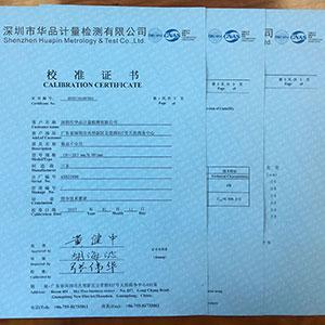 送回客户仪器,寄送校准报告证书